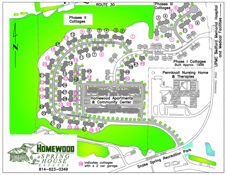 Map of Homewood Spring House Estates Campus