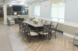 Spring House Estates Lobby with dining room table